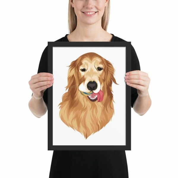 Custom Vectorized Dog Framed Poster 3